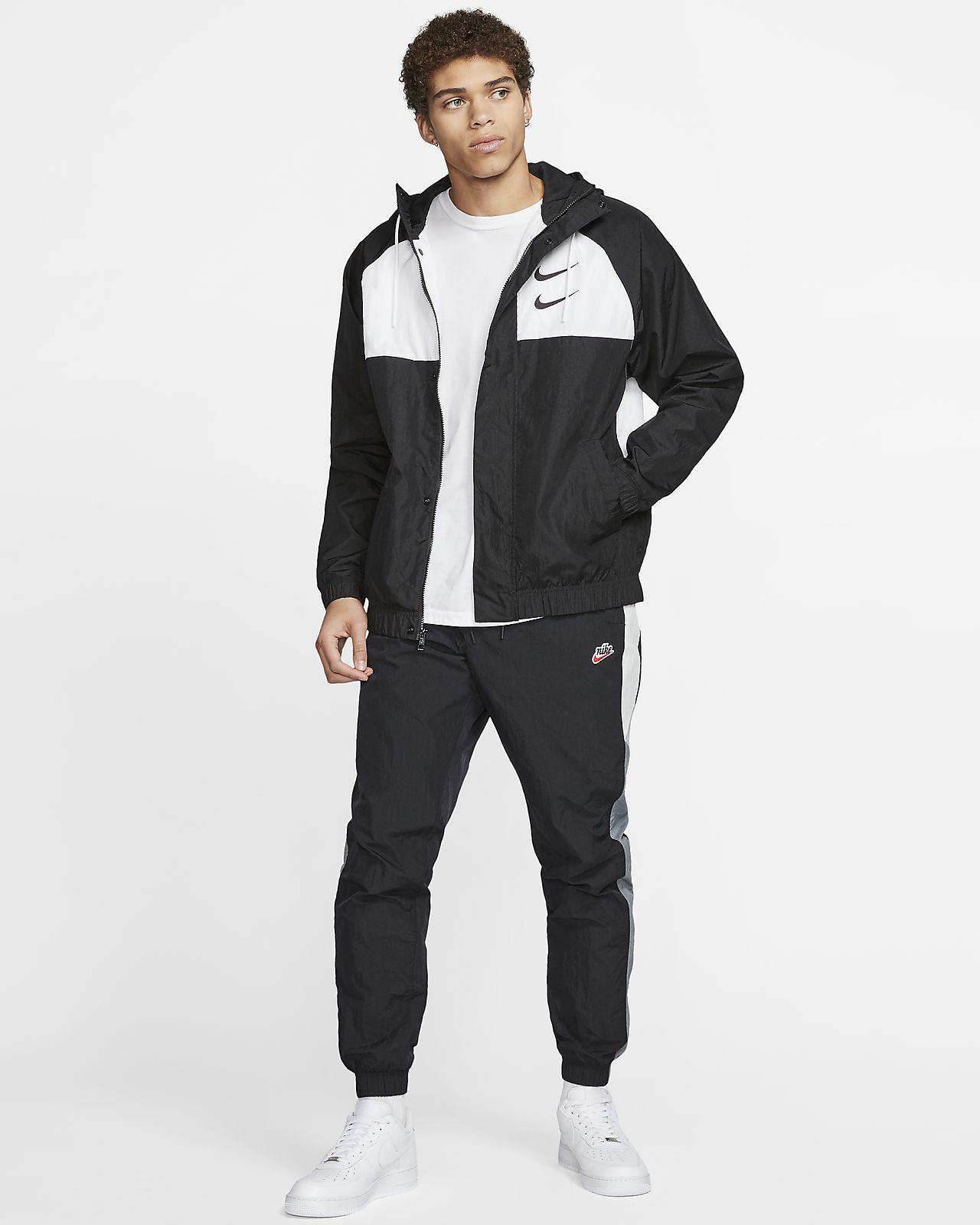 Giacca con cappuccio in woven Nike Sportswear Swoosh Uomo