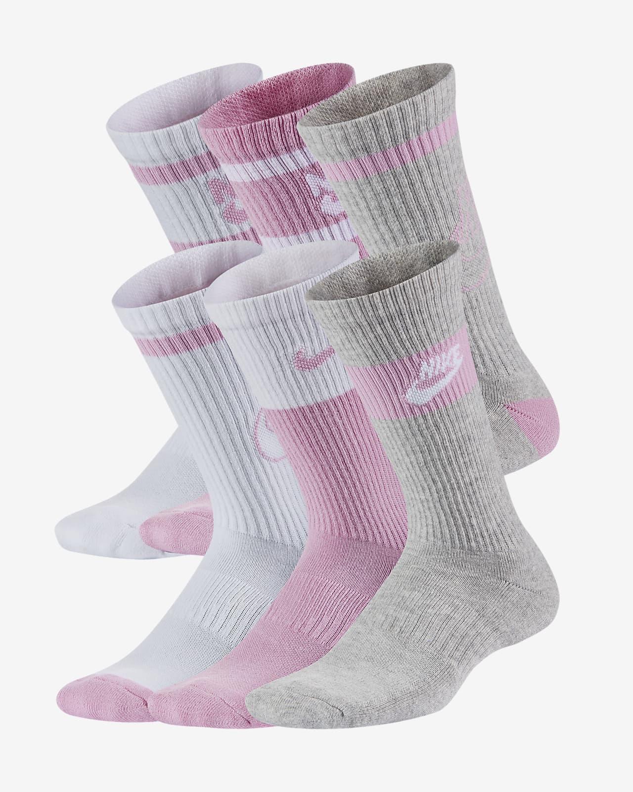Nike Everyday Crew sokken met demping voor kids (6 paar)