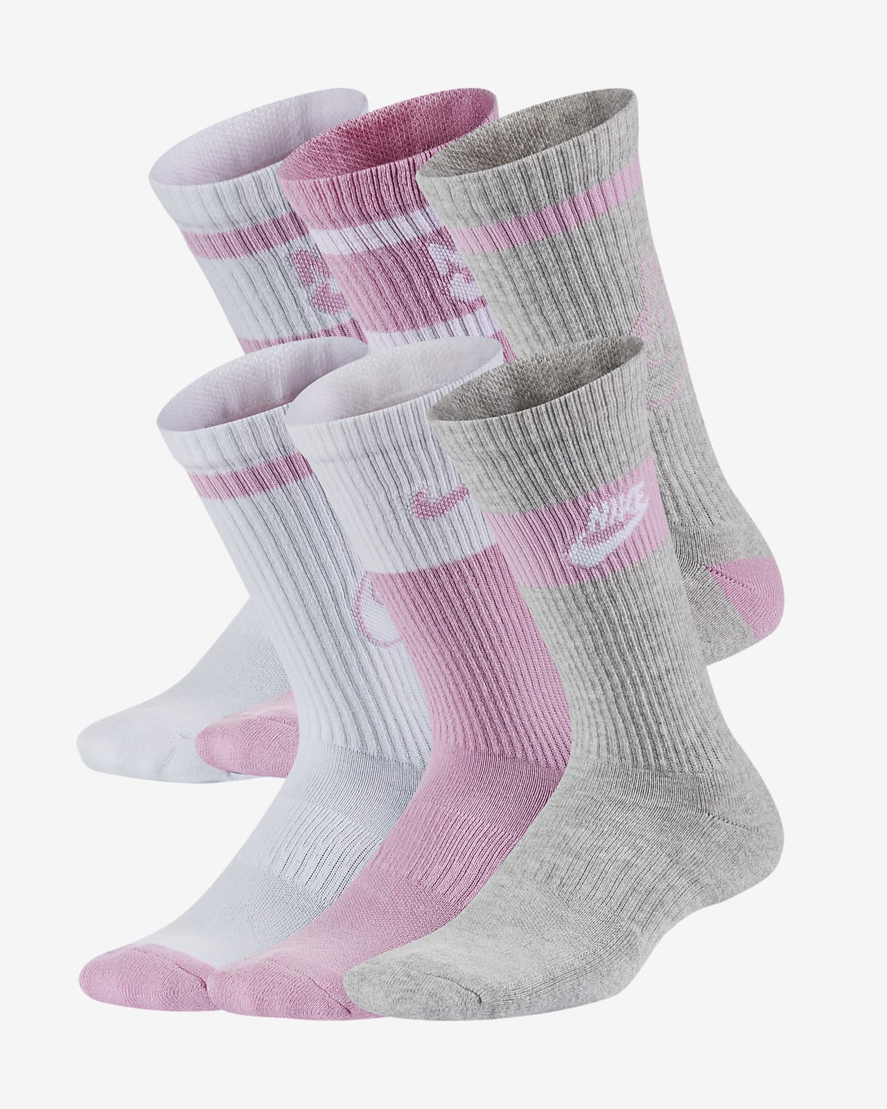 Nike Everyday Kids' Cushioned Crew Socks (6 Pairs)