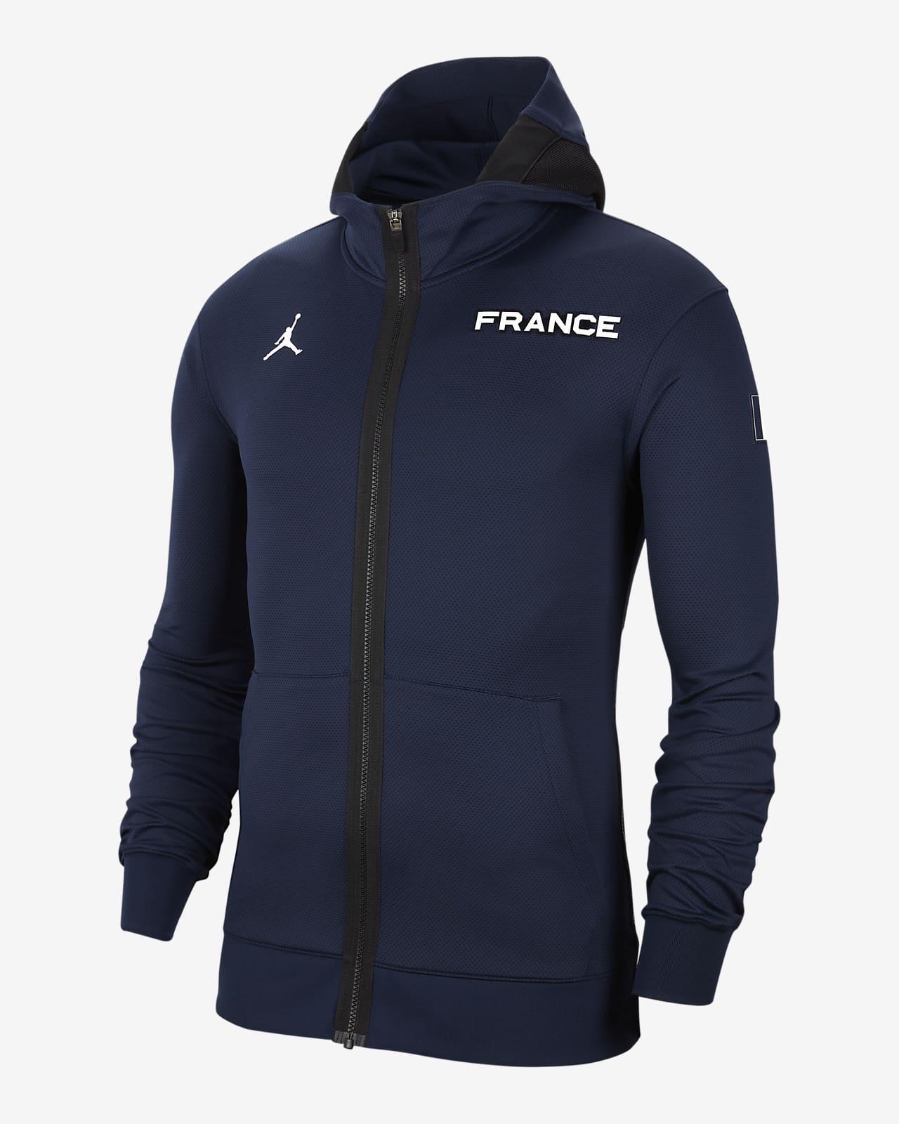 Sweat à capuche de basketball France Jordan Therma Flex Showtime pour Homme