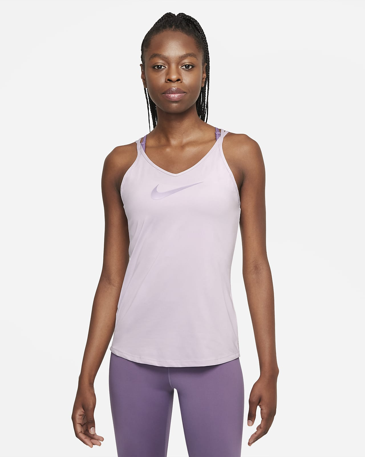 Nike Dri-FIT One Strappy singlet med smal passform til dame