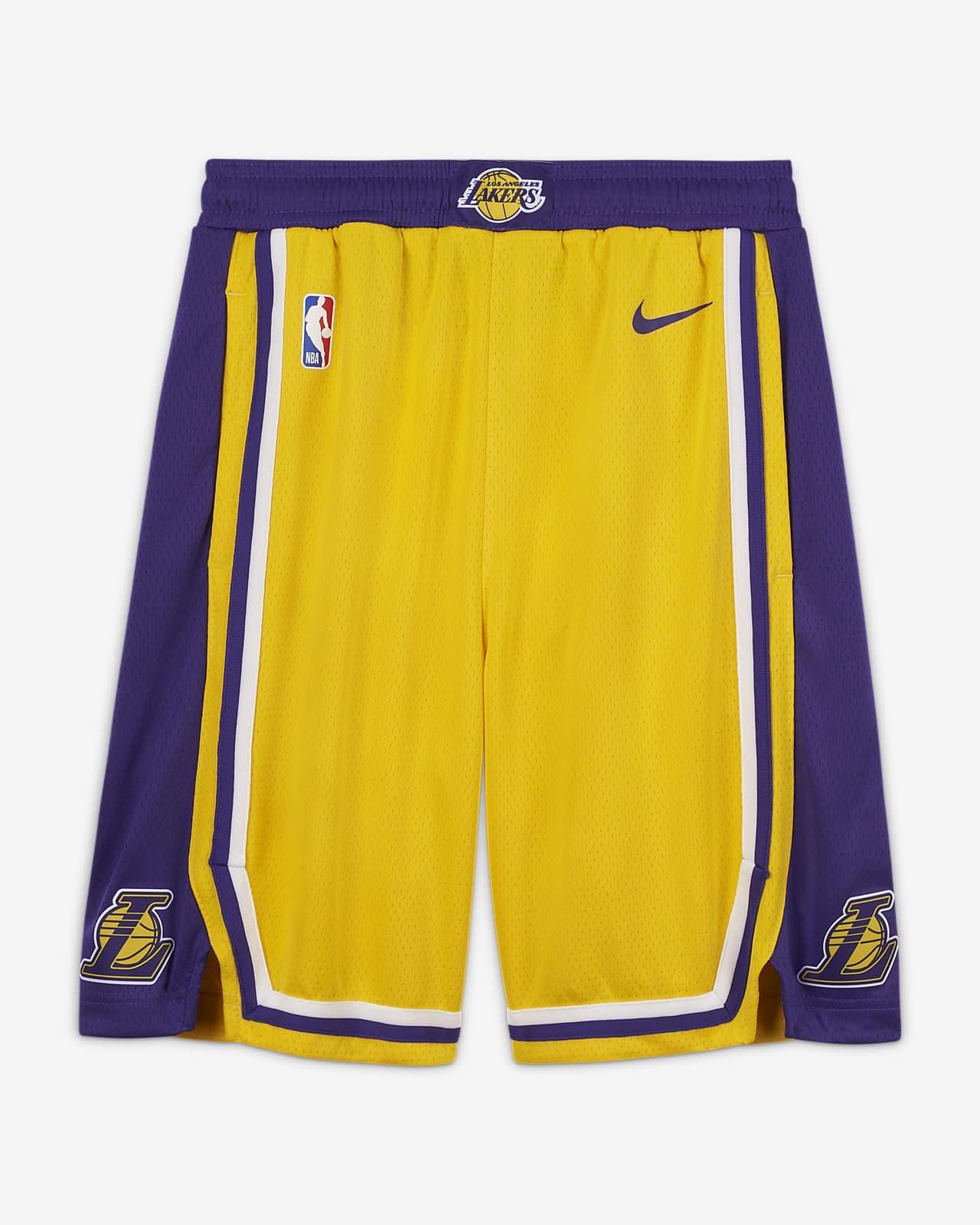 Los Angeles Lakers Icon Edition-Nike NBA Swingman-shorts til store børn