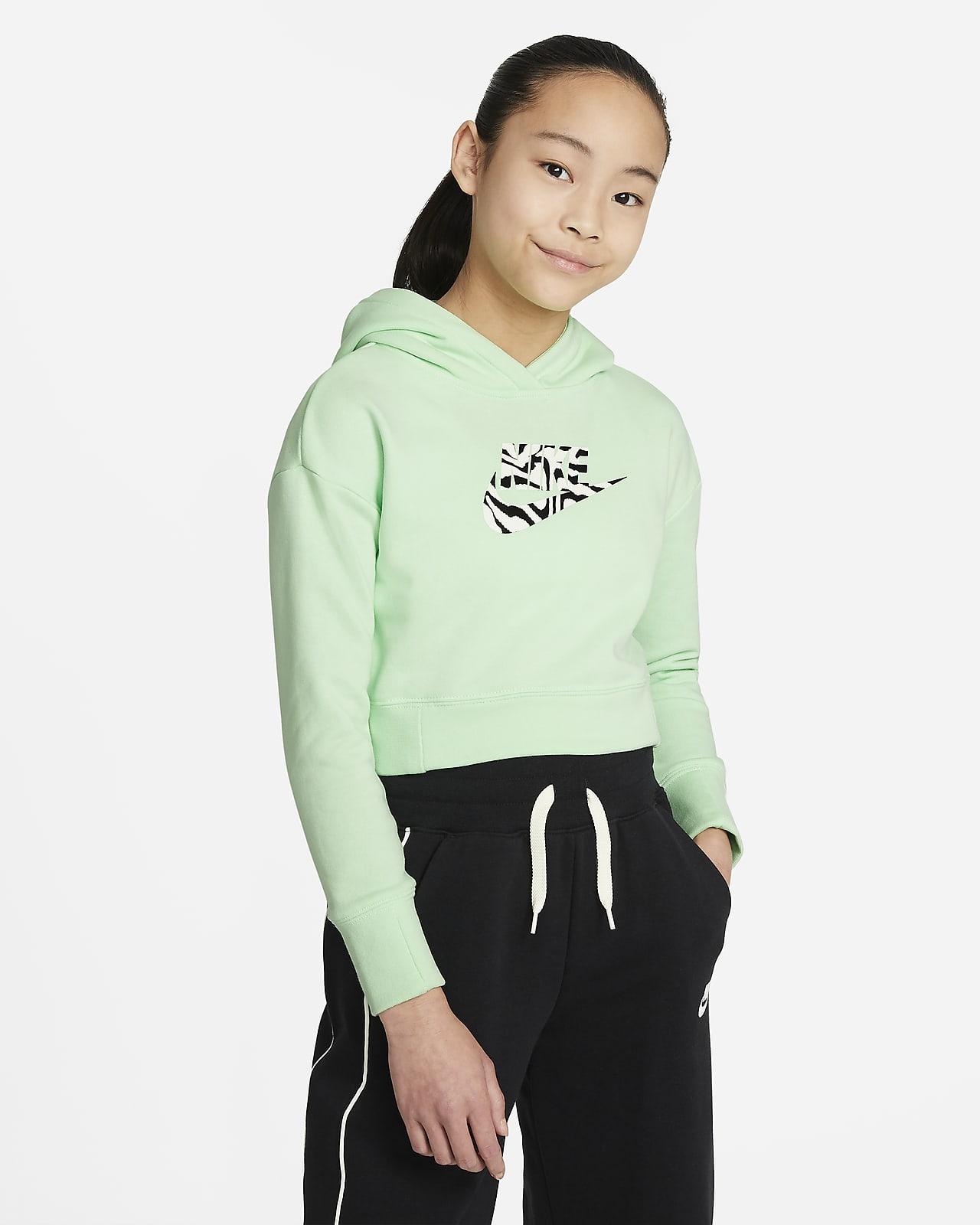 Nike Sportswear rövidített kapucnis pulóver nagyobb gyerekeknek (lányok)