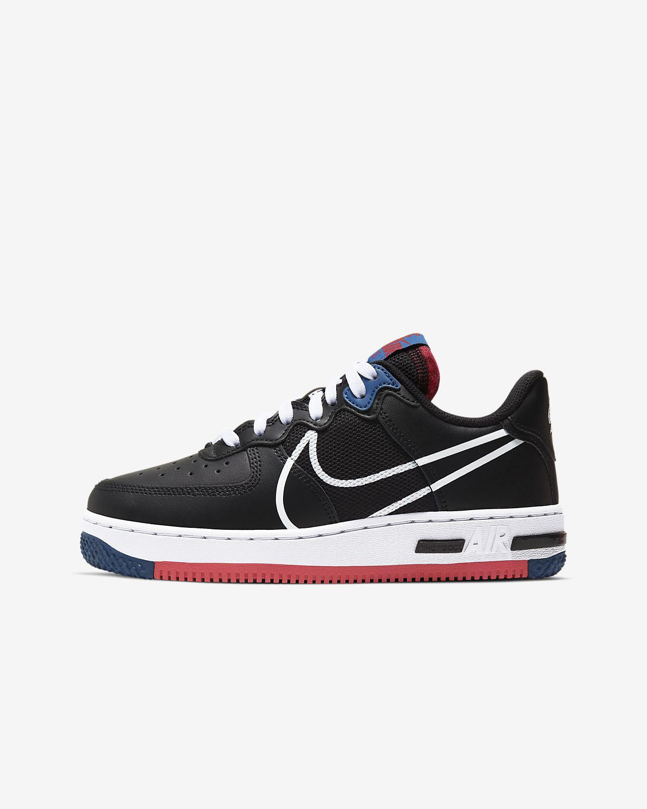 Nike Air Force 1 React-sko til store børn