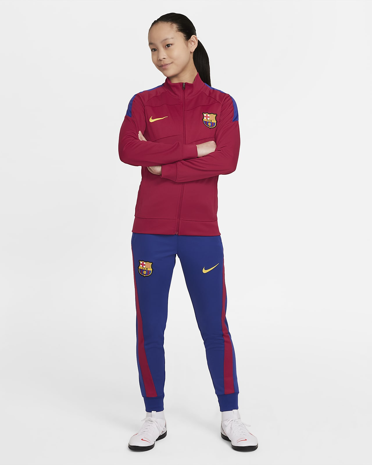 FC Barcelona Academy Pro Nike Dri-FIT Genç Çocuk Futbol Eşofmanı