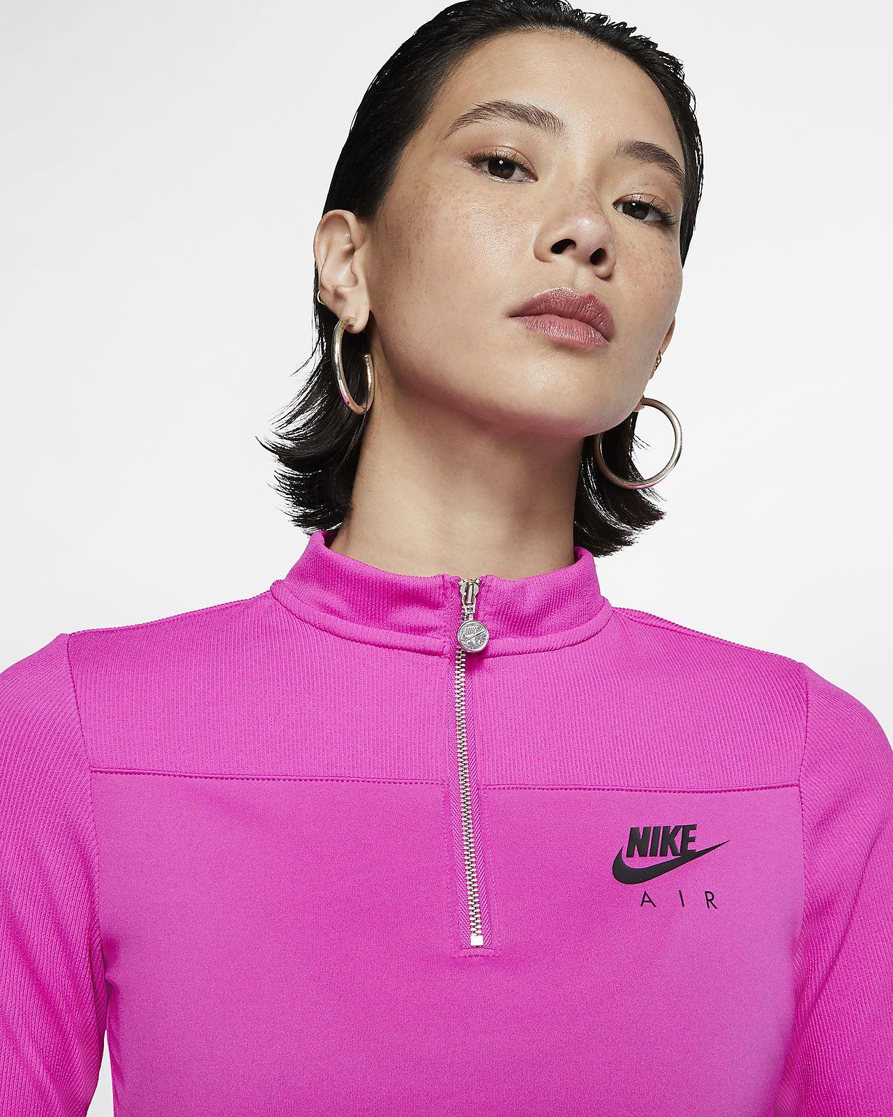 Haut côtelé à manches longues Nike Air pour Femme