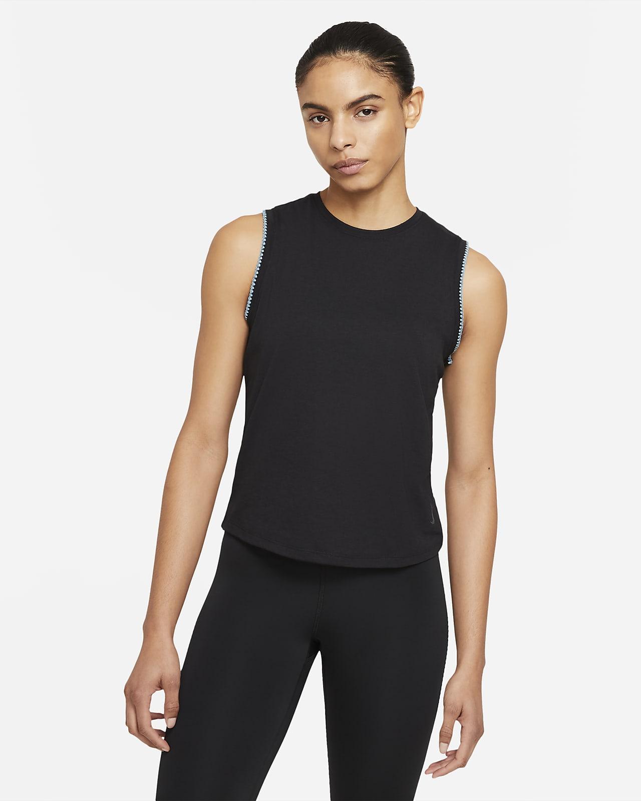 Nike Yoga Tank mit gehäkeltem Saum für Damen