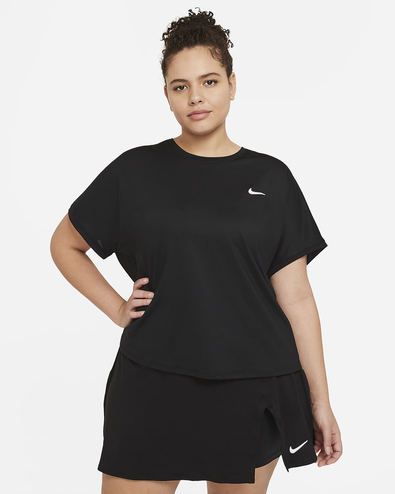 NikeCourt Dri-FIT Victory Women's Short-Sleeve Tennis Top (Plus Size)