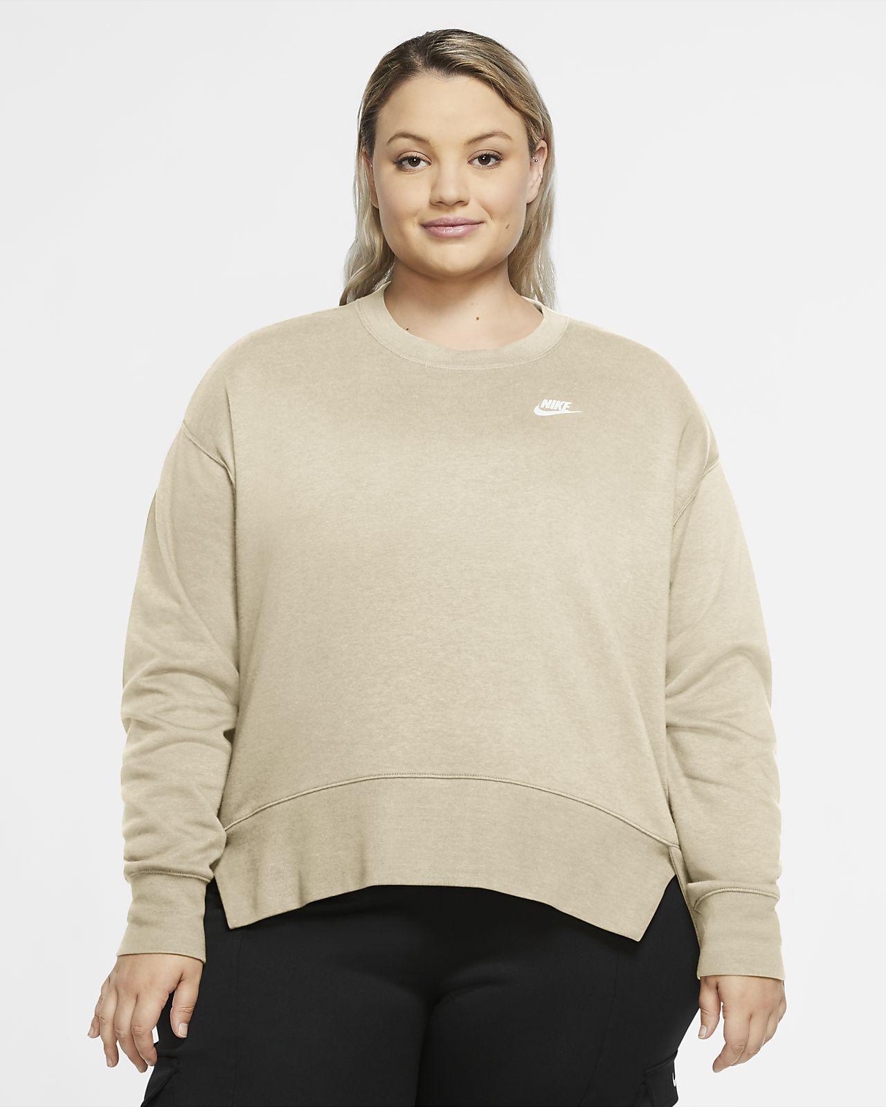 Nike Sportswear Club Women's Fleece Crew (Plus Size)