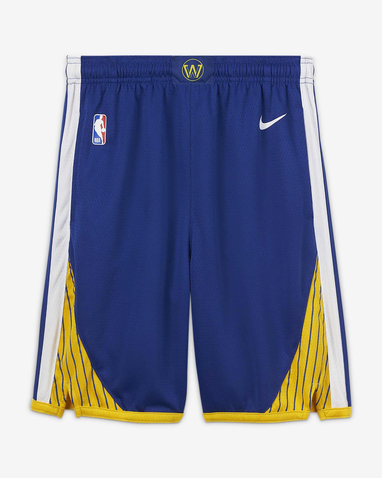 Spodenki dla dużych dzieci Nike NBA Swingman Golden State Warriors Icon Edition