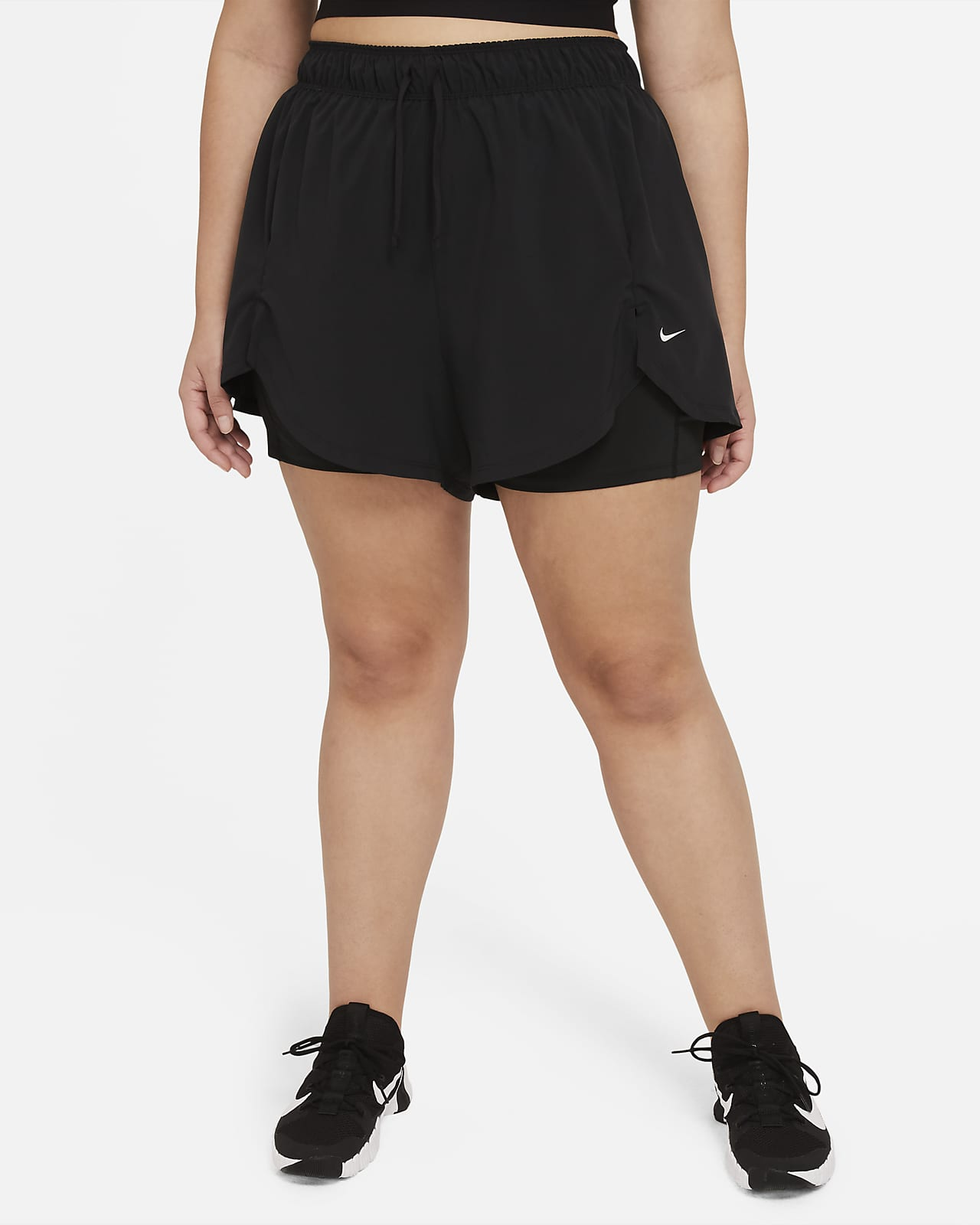 Γυναικείο σορτς προπόνησης 2 σε 1 Nike Flex Essential (μεγάλα μεγέθη)
