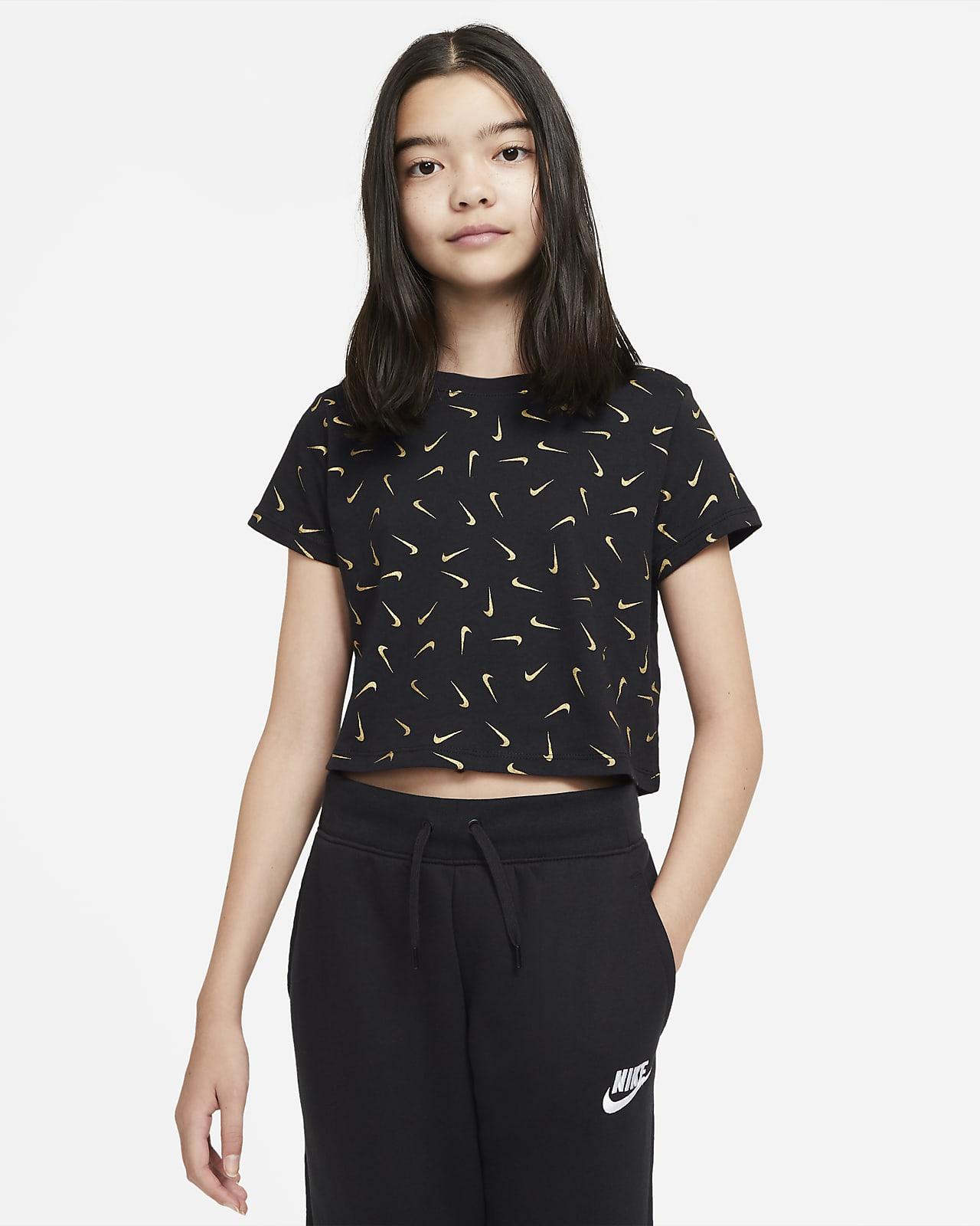 Zkrácené tričko Nike Sportswear pro větší děti (dívky)