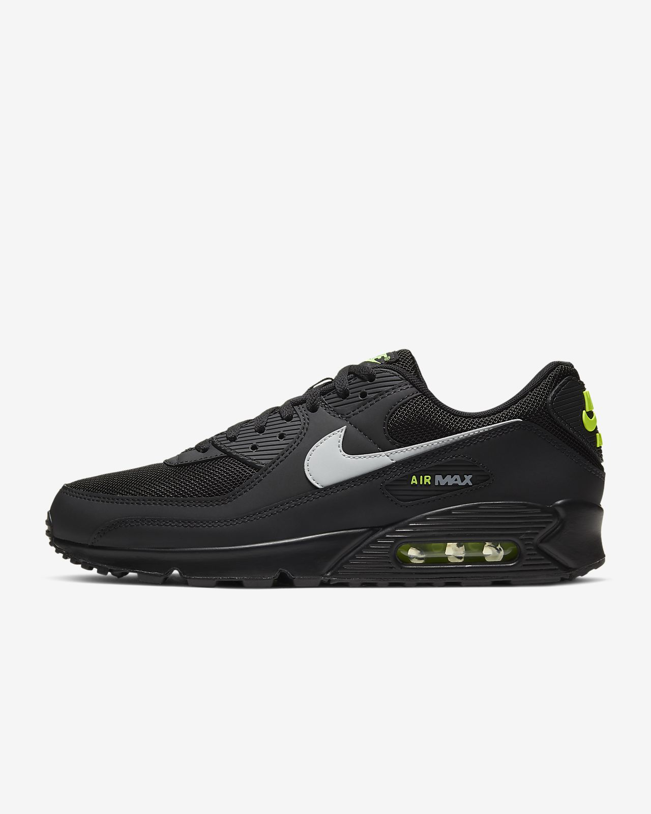 Sverige Nike Air Max 90 Kvinna Man Skor Medium Grey White