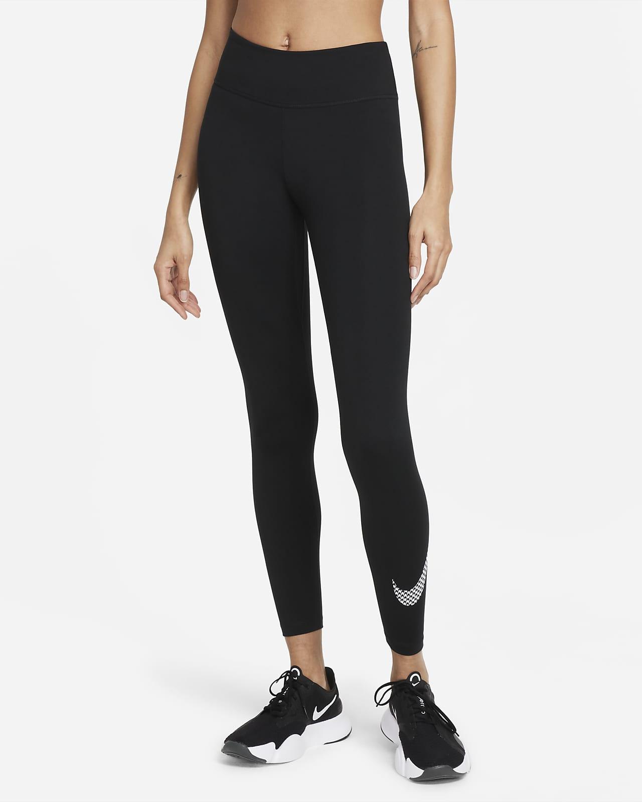 Leggings con gráfico de tiro medio para mujer Nike Dri-FIT One Icon Clash