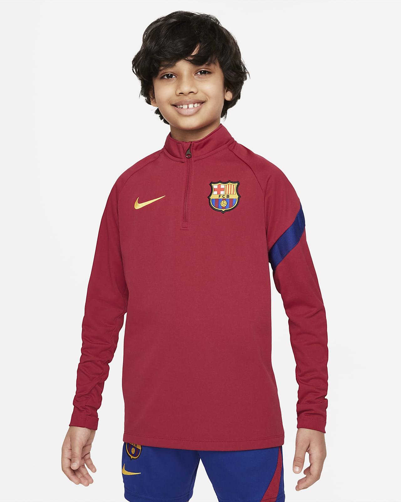 Haut d'entraînement de football Nike Dri-FIT FC Barcelona Academy Pro pour Enfant plus âgé