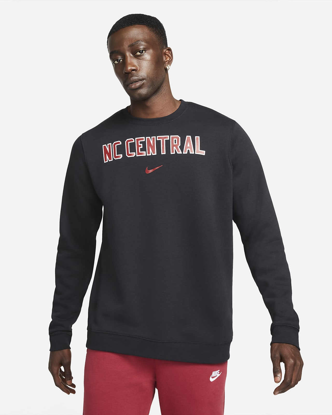 Nike College Club Fleece (North Carolina Central) Crew Sweatshirt