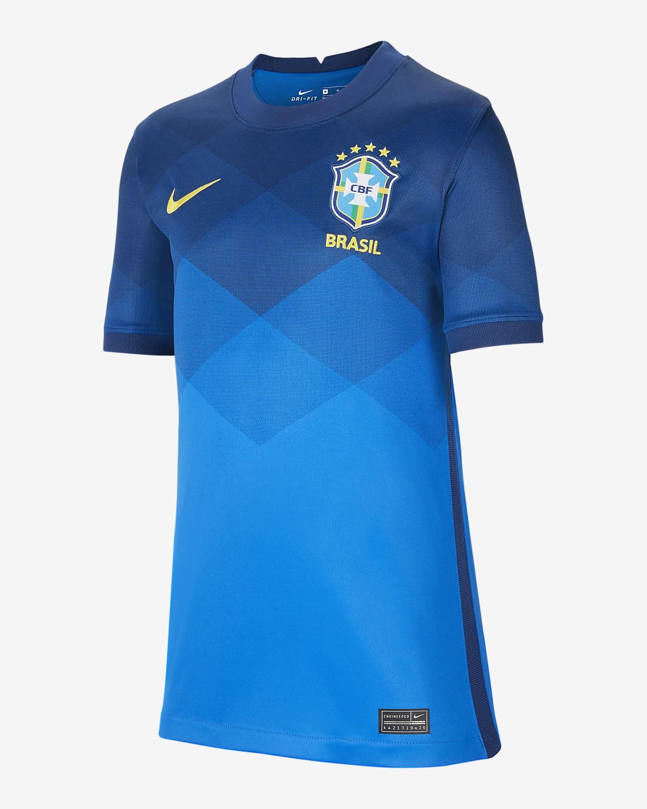 Camiseta de fútbol de visitante para niños talla grande Stadium de Brasil 2020