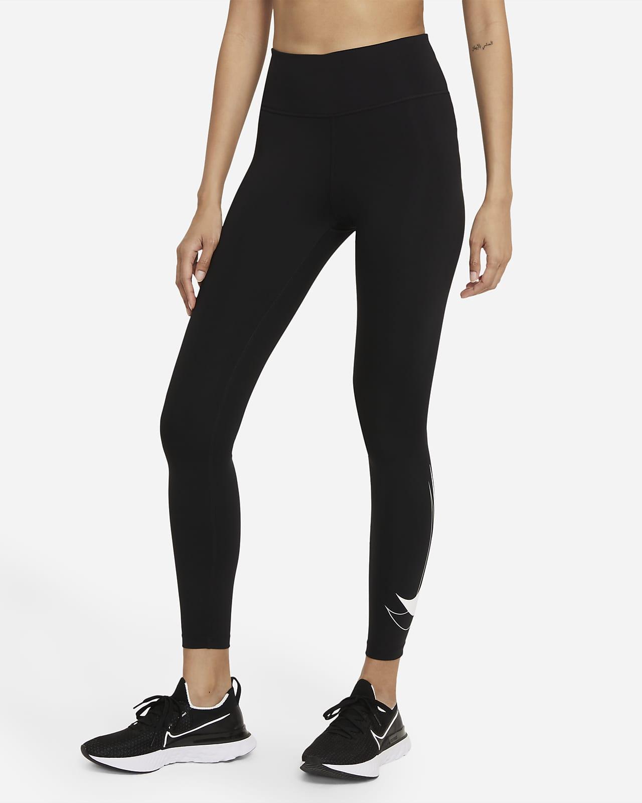 Dámské7/8 běžecké legíny Nike Dri-FIT Swoosh Run se středně vysokým pasem