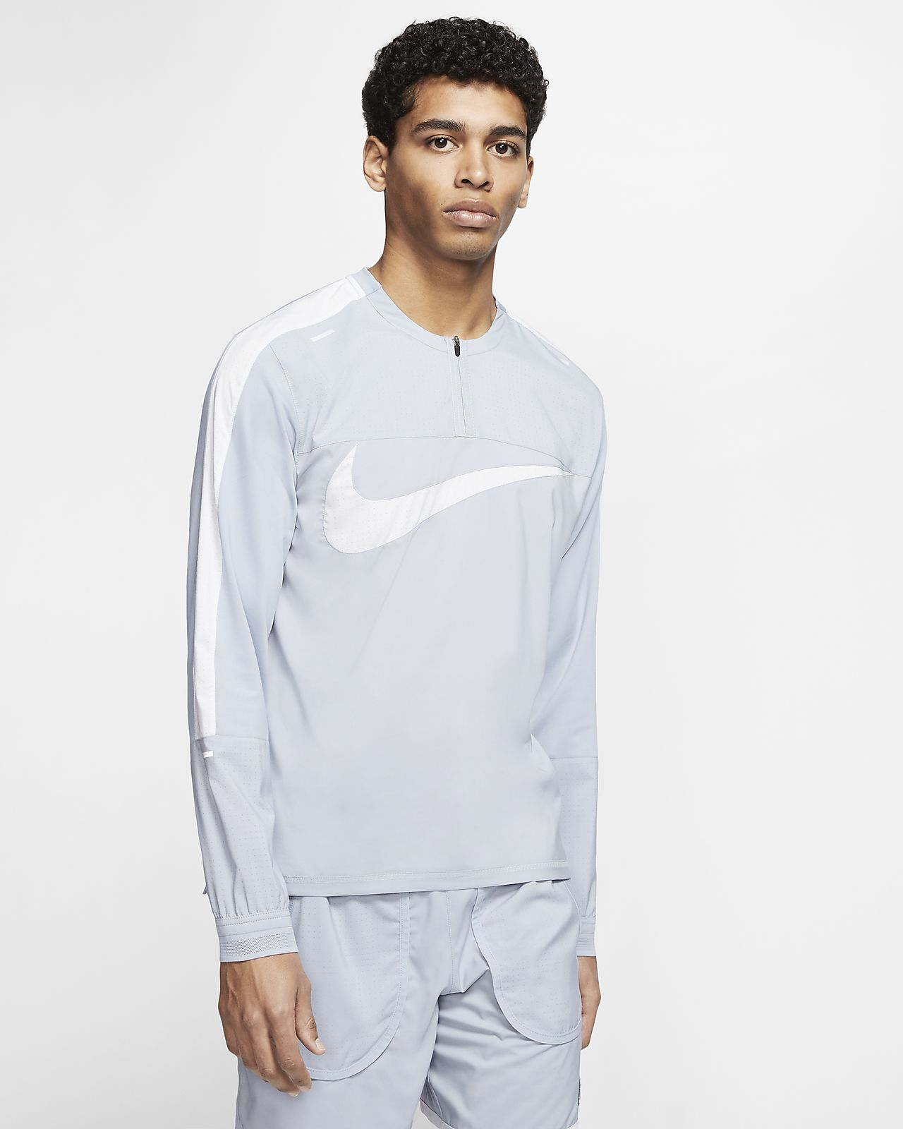 Мужская беговая футболка с молнией 1/4 Nike