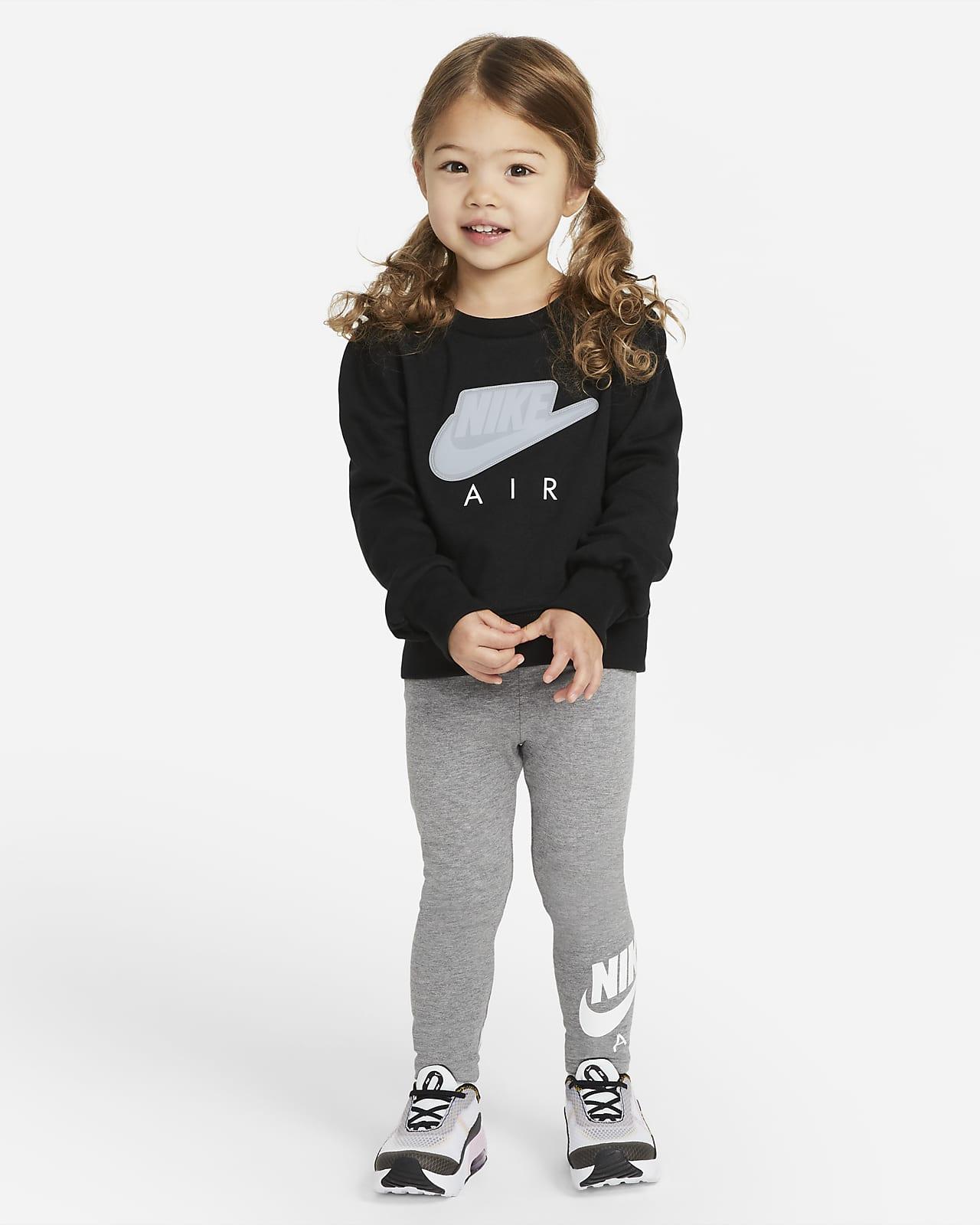 Nike Air Set aus Rundhalsshirt und Leggings für Kleinkinder
