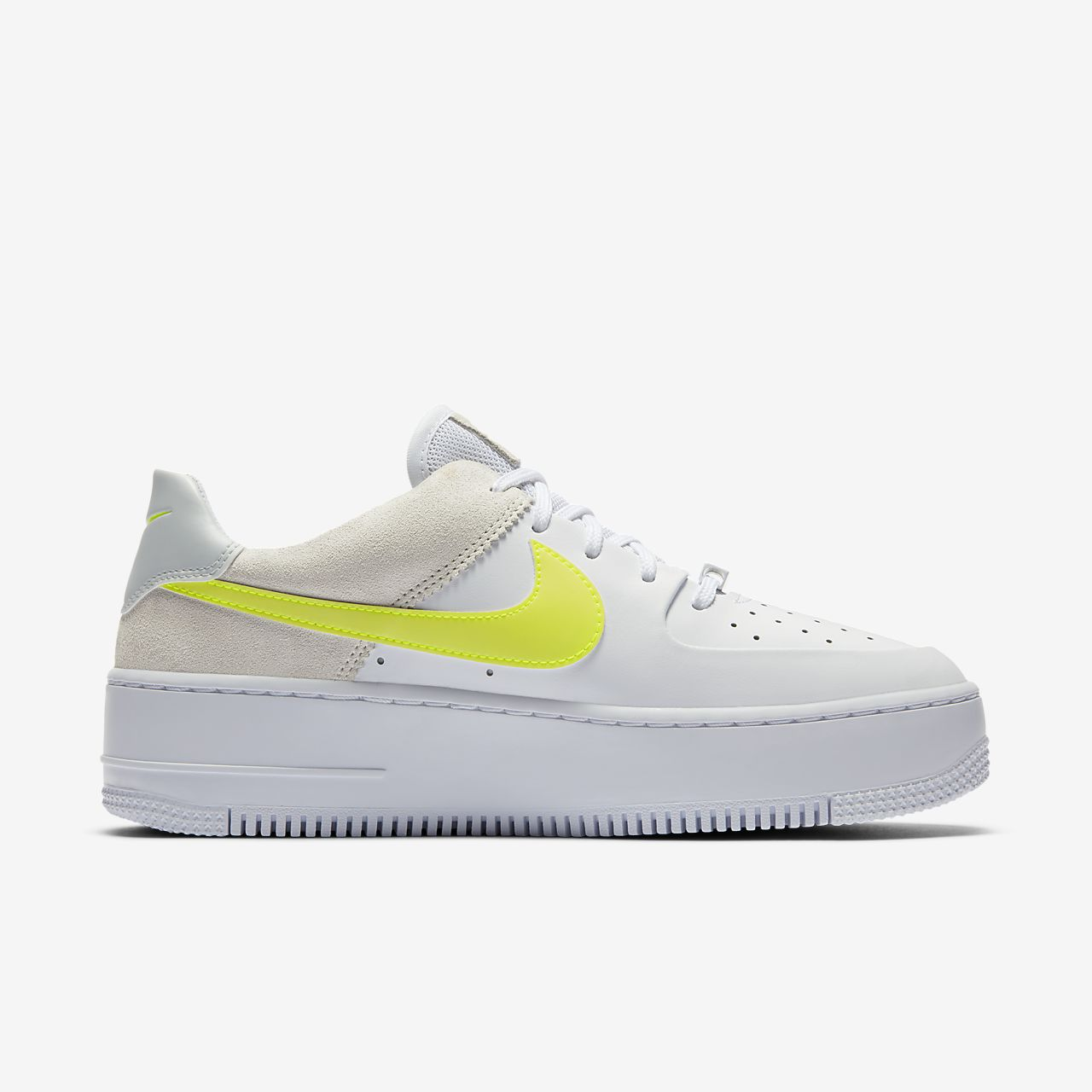 white and yellow nike air force