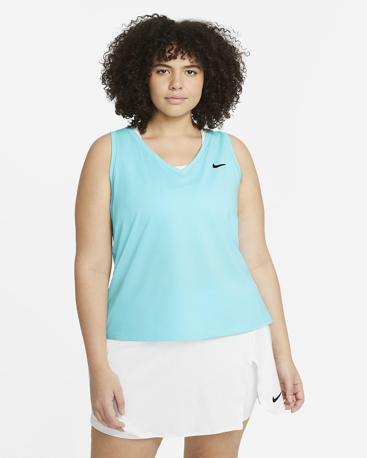 Женская теннисная майка NikeCourt Victory (большие размеры)