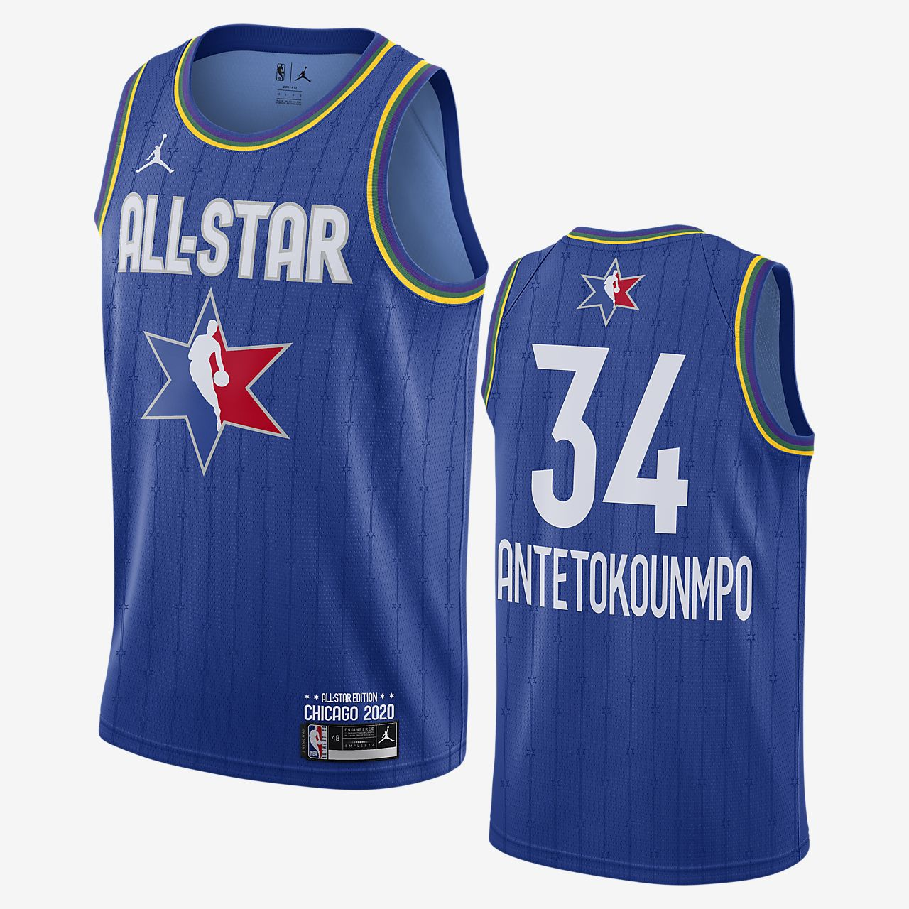 Maillot Jordan NBA Swingman Giannis Antetokounmpo All-Star