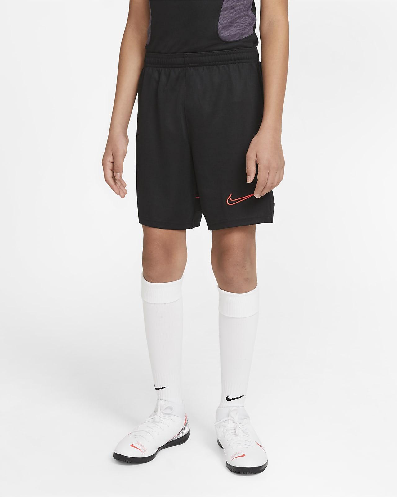 กางเกงฟุตบอลถักขาสั้นเด็กโต Nike Dri-FIT Academy