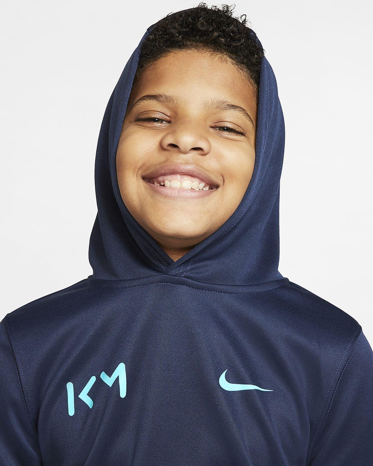Nike NSW Kylian Mbappe Dziecięca bluza z kapturem Obsidian
