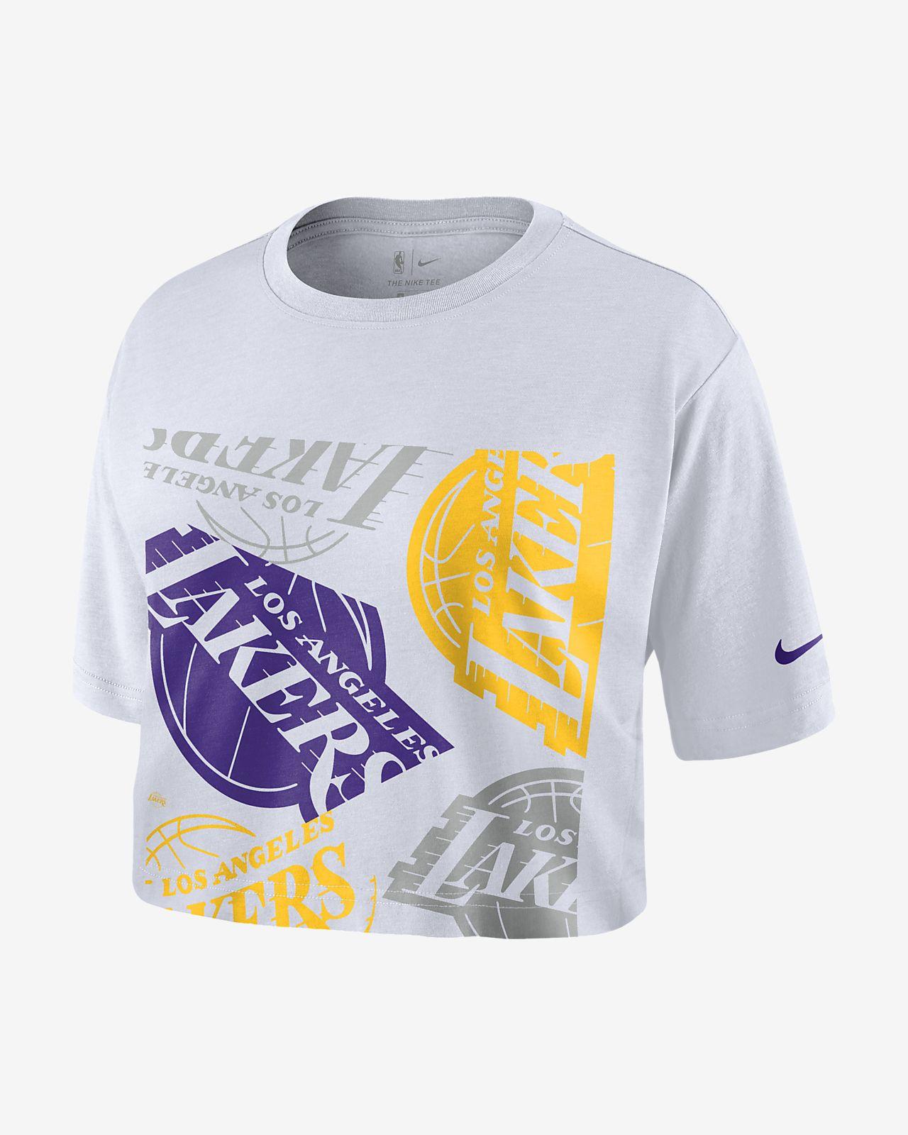 洛杉矶湖人队 Logo Nike NBA 女子短款T恤
