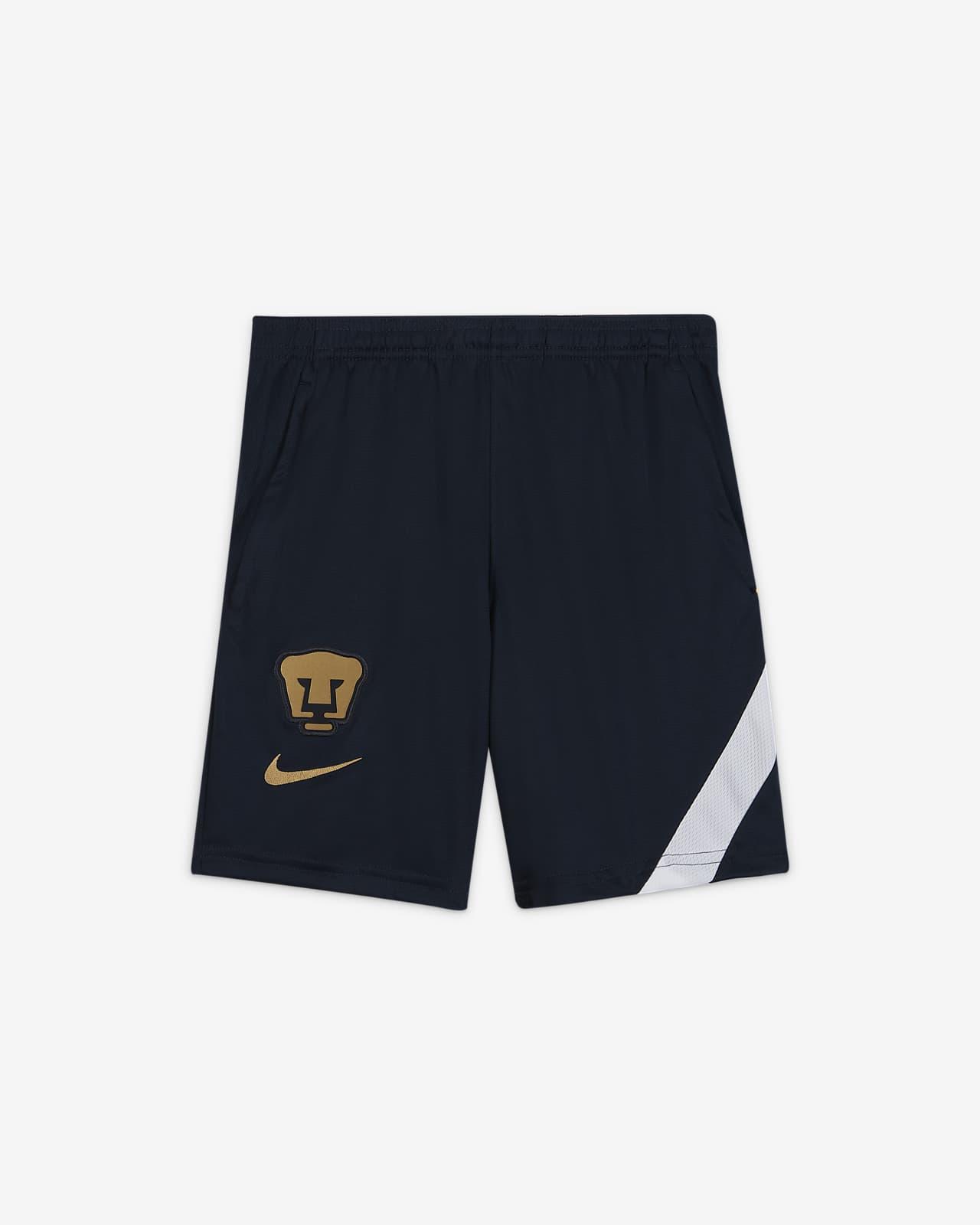 Shorts de fútbol para niños talla grande Pumas UNAM Academy Pro