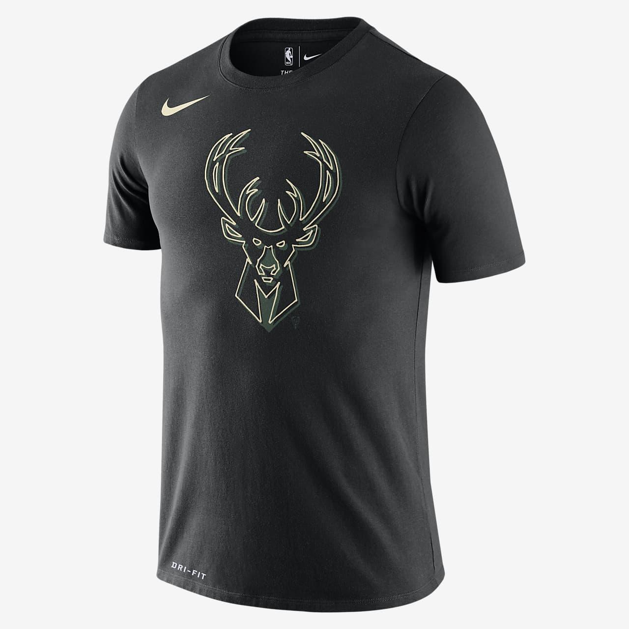 Milwaukee Bucks Logo Men's Nike Dri-FIT NBA T-Shirt