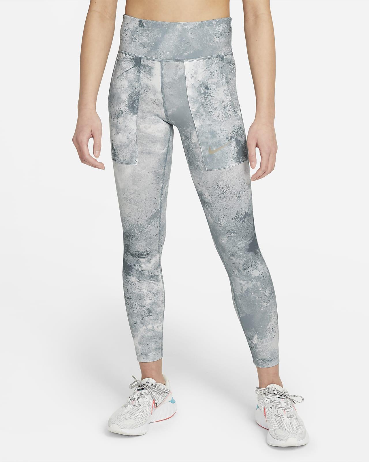 Nike One batikolt, mintás leggings nagyobb gyerekeknek (lányoknak)