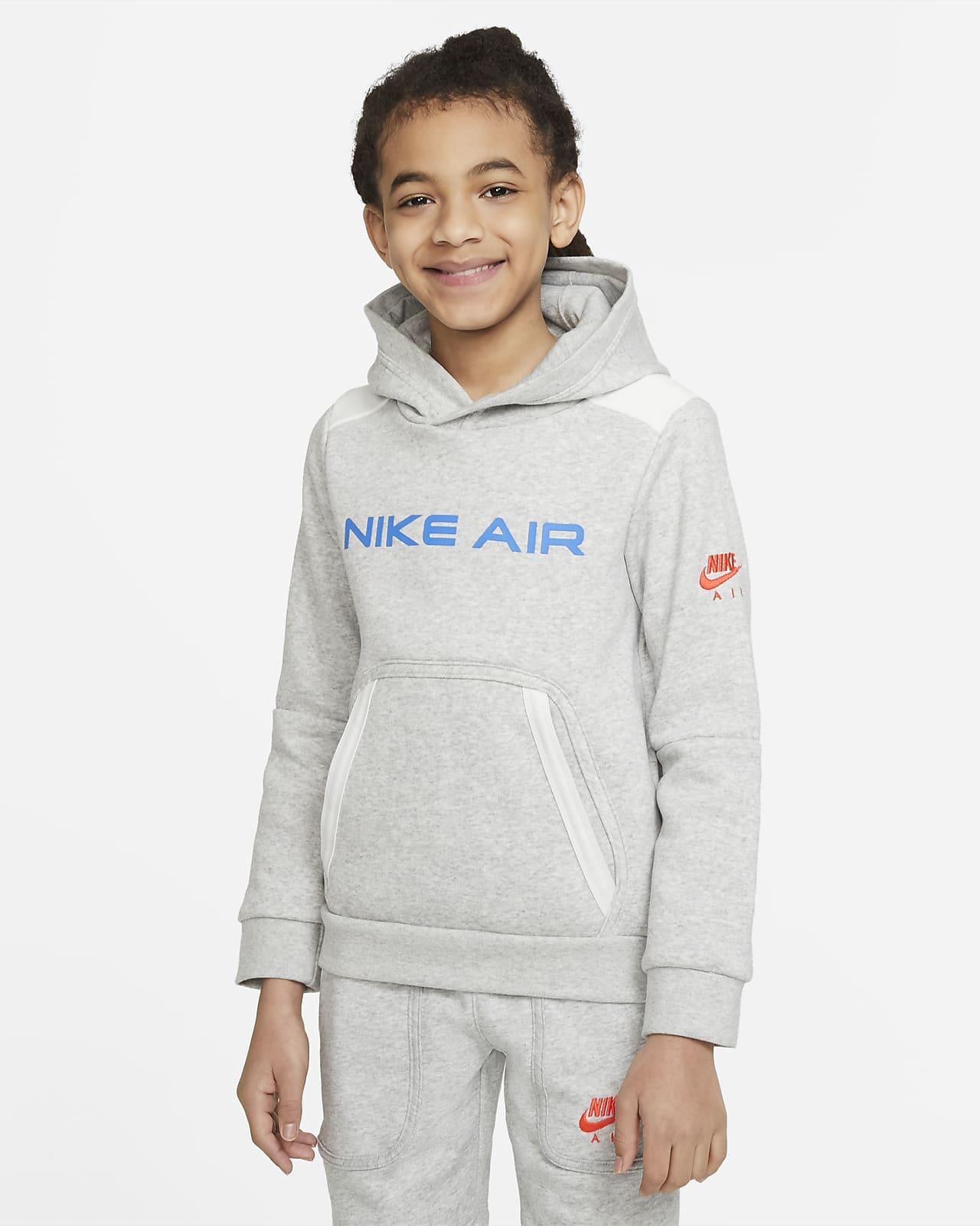 Sudadera con capucha sin cierre en tejido Fleece para niño talla grande Nike Air