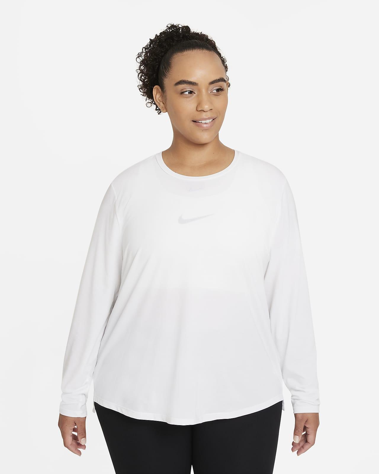 Nike Dri-FIT One Luxe Women's Standard Fit Long-Sleeve Top (Plus Size)