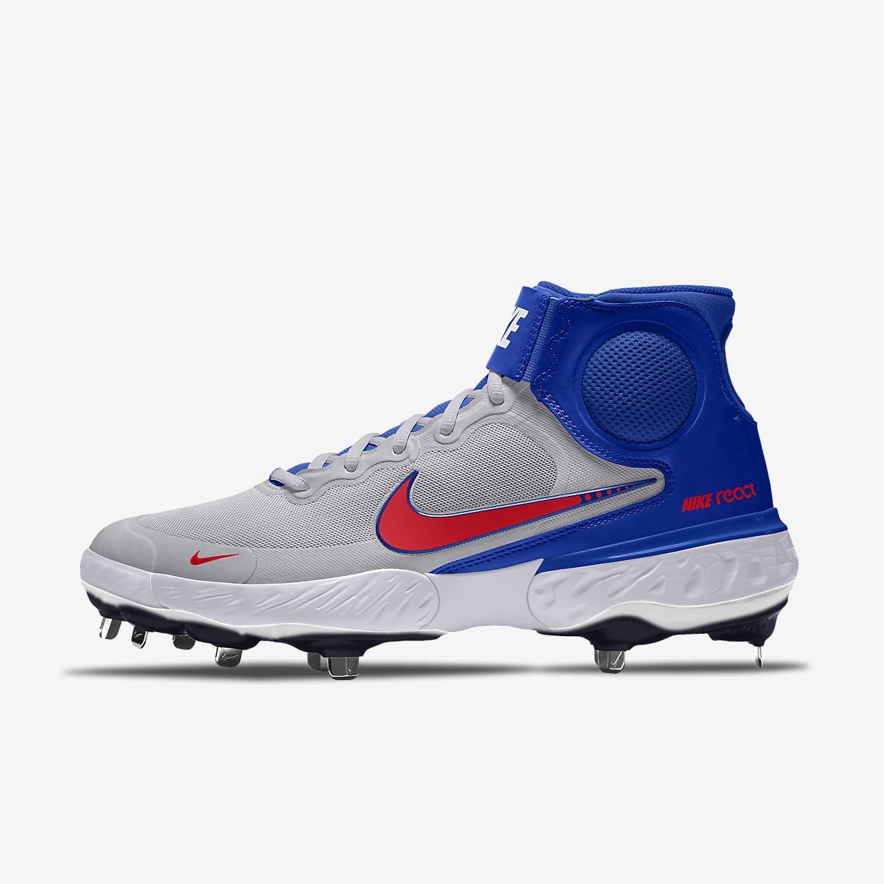 รองเท้าสตั๊ดเบสบอลออกแบบเอง Nike Alpha Huarache Elite 3 Mid By You