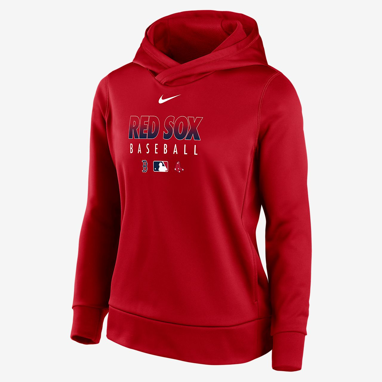 Nike Therma (MLB Boston Red Sox) Women's Pullover Hoodie