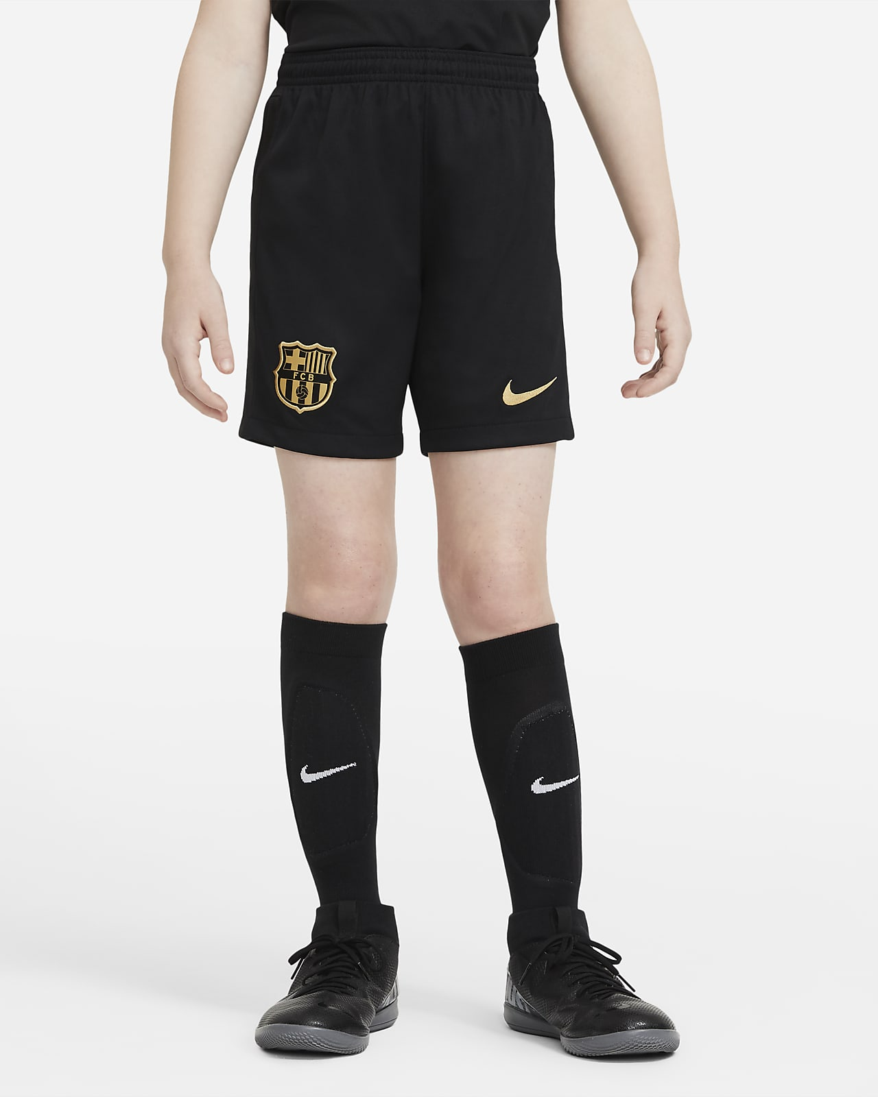 Shorts de fútbol para niño talla grande de local/visitante Stadium del FC Barcelona 2020/21
