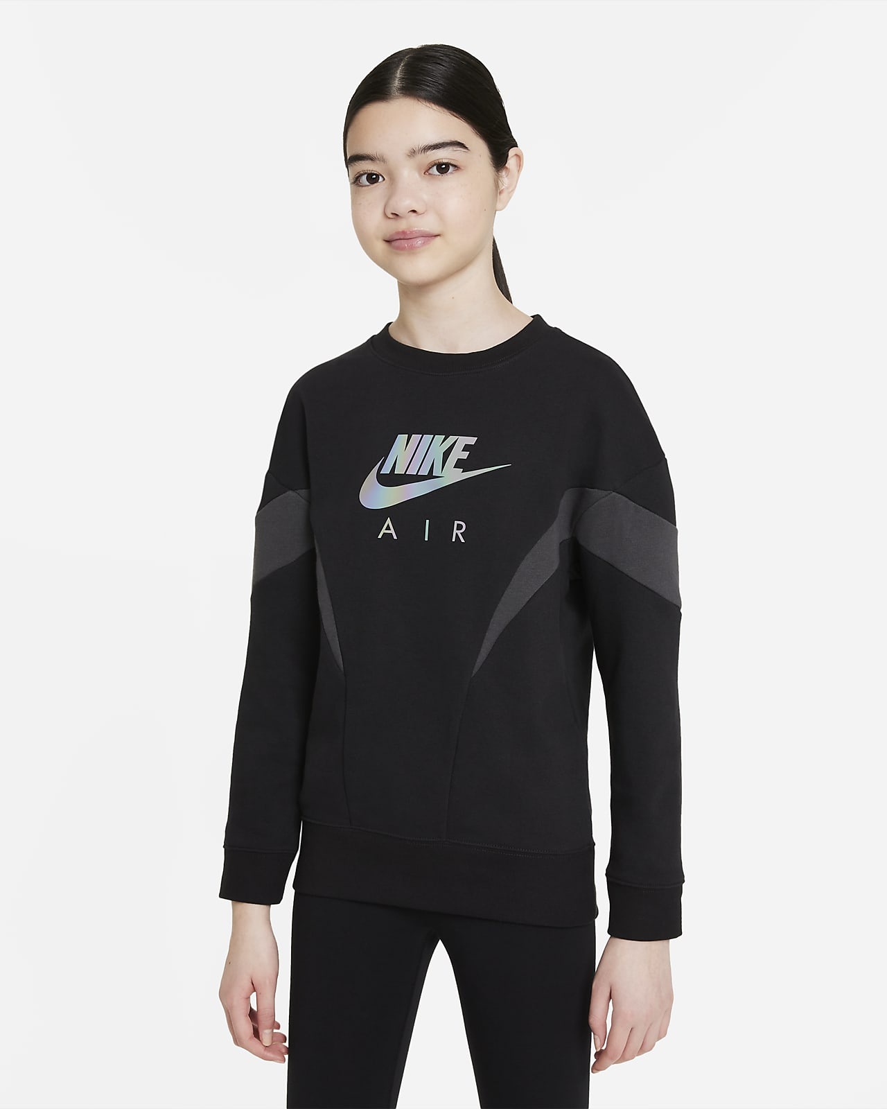 Sudadera de French Terry para niña talla grande Nike Air