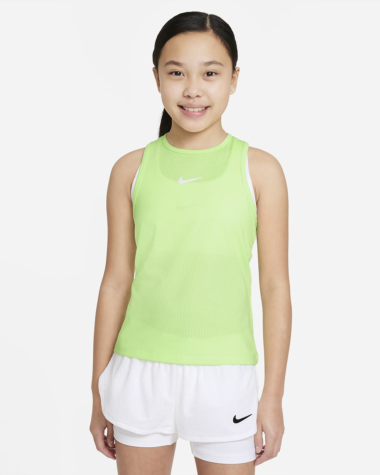 Camiseta de tirantes de tenis para niña talla grande NikeCourt Dri-FIT Victory