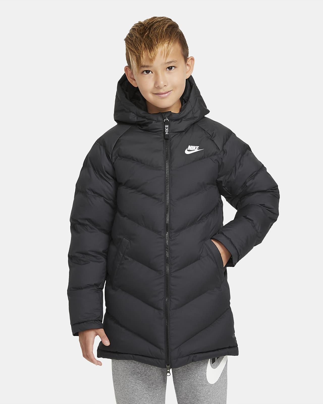Mimořádně dlouhá bunda Nike Sportswear se syntetickou výplní pro větší děti