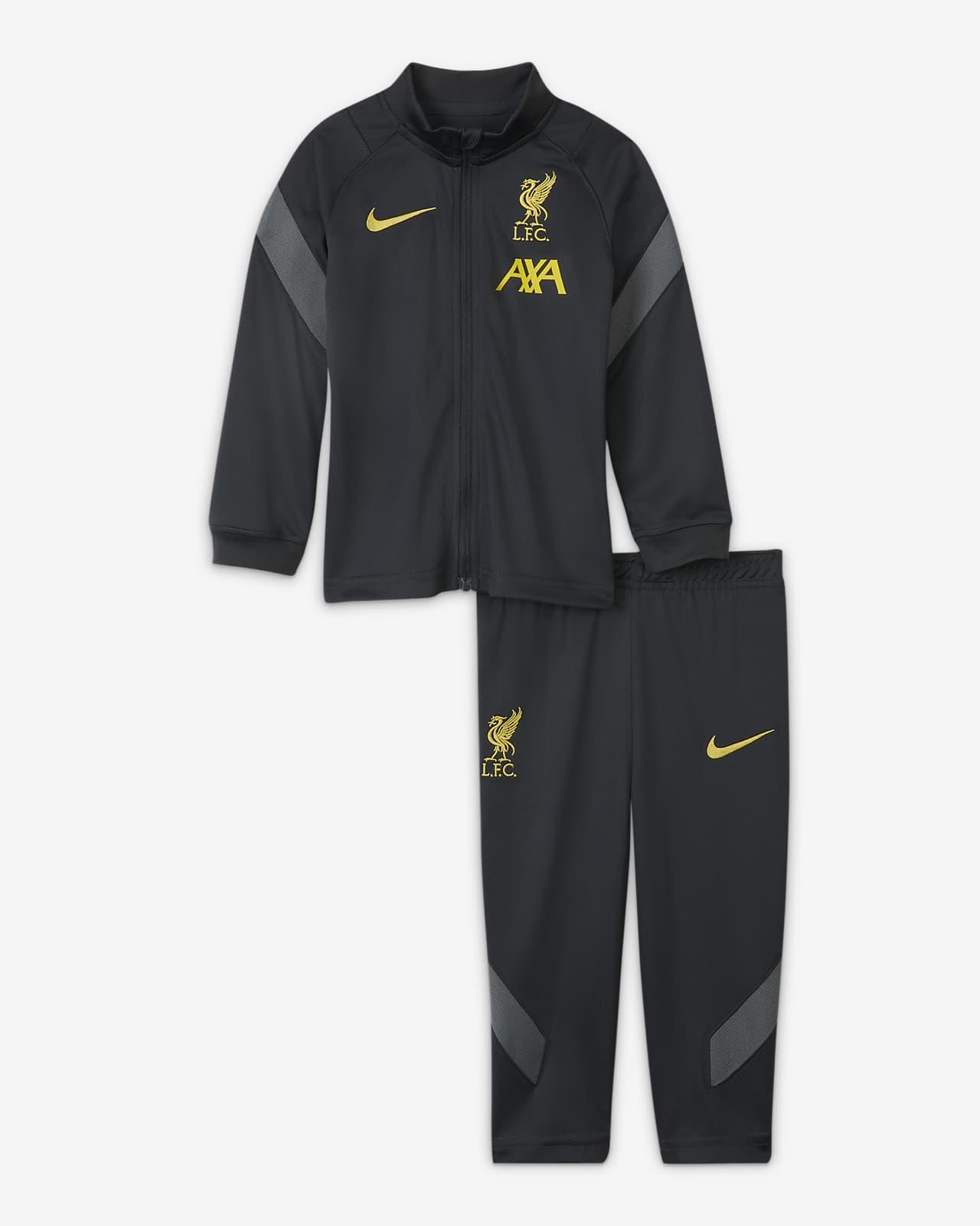 Tuta da calcio in maglia Nike Dri-FIT Liverpool FC Strike - Neonati/Bimbi piccoli