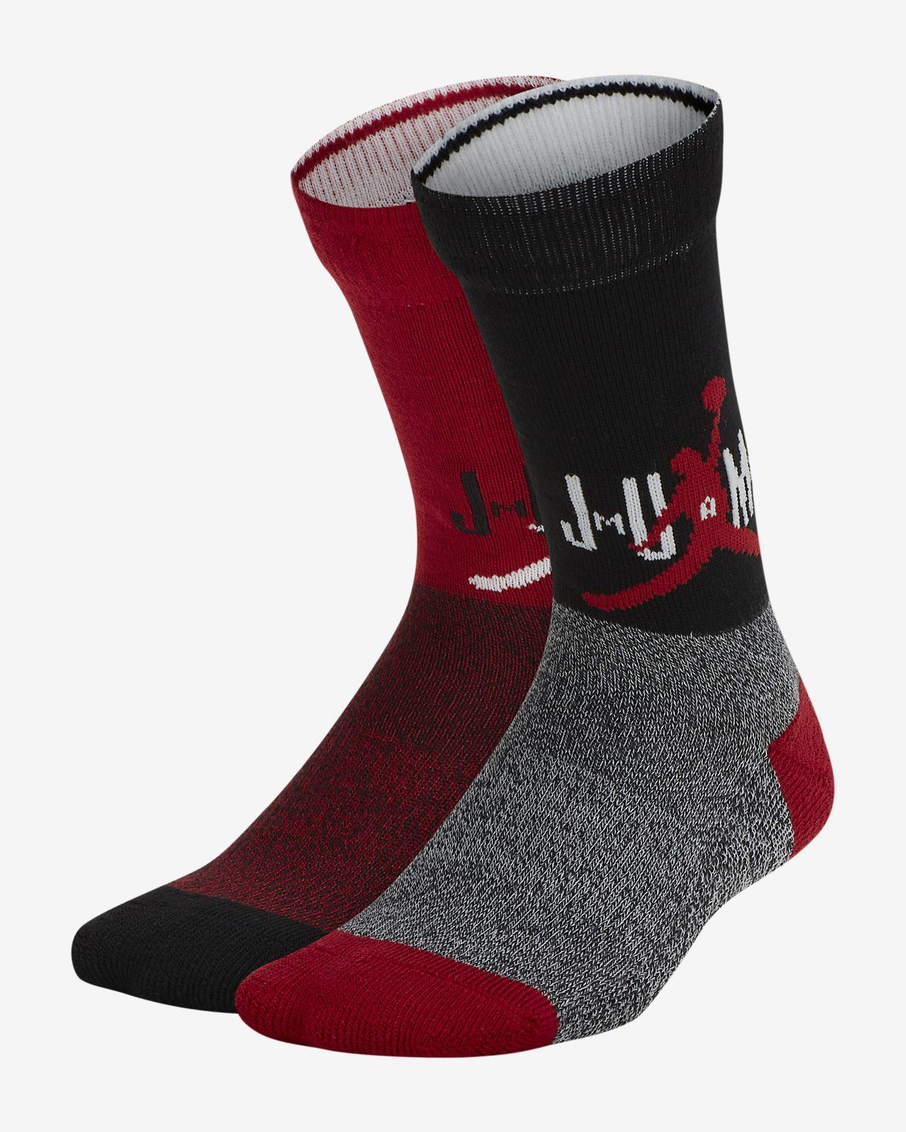 Jordan gepolsterte Crew-Socken für Kinder(2 Paar)