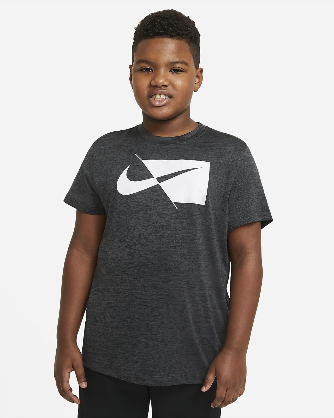 Nike Trainingstop met korte mouwen voor jongens (grotere maten)