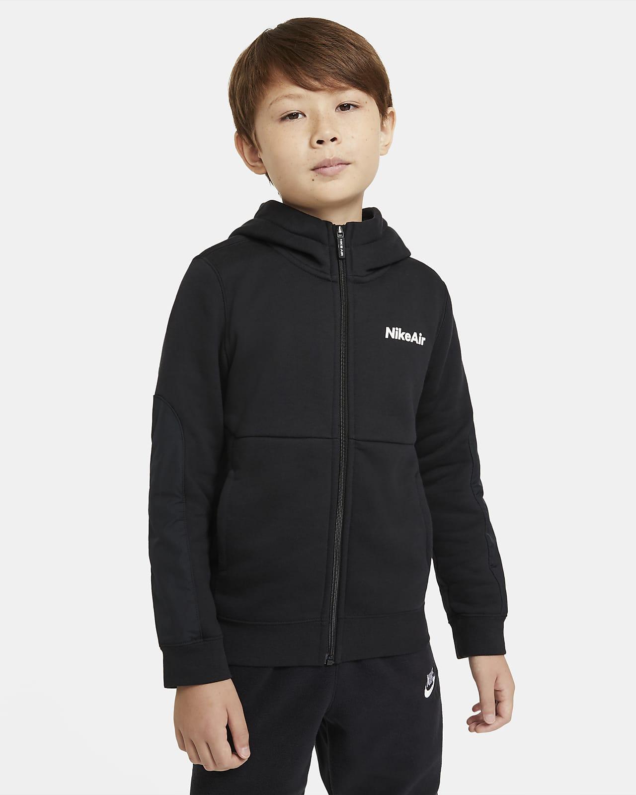 Sweat à capuche entièrement zippé Nike Air pour Garçon plus âgé