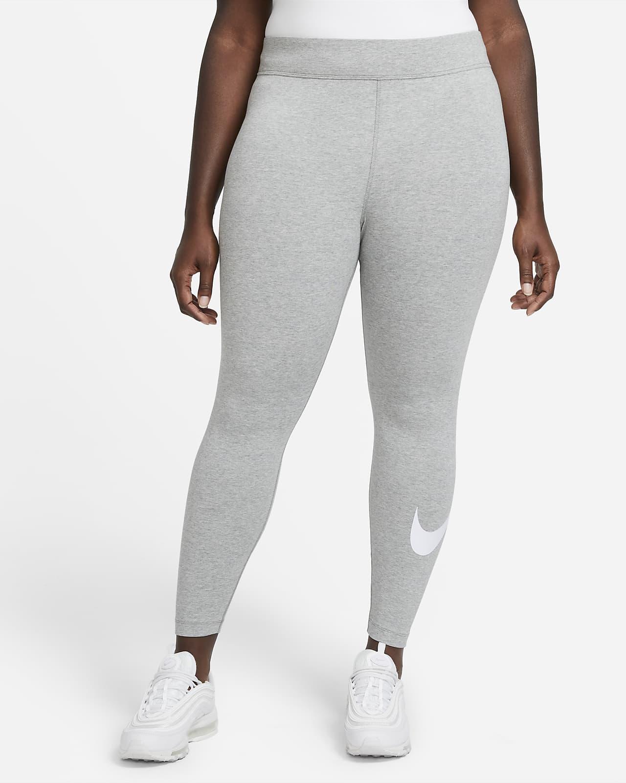 Nike Sportswear Essential Women's Mid-Rise Swoosh Leggings (Plus Size)