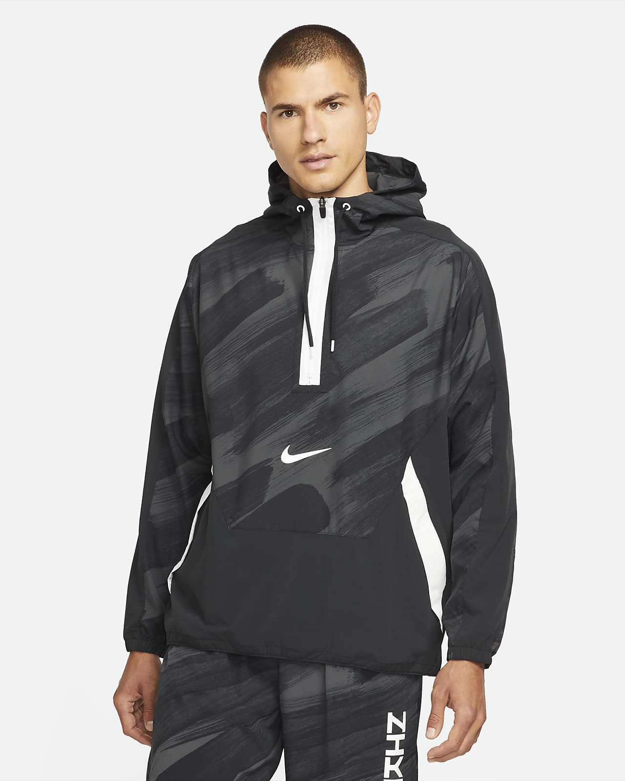 Sudadera con capucha de entrenamiento de medio cierre de tejido Woven para hombre Nike Dri-FIT Sport Clash