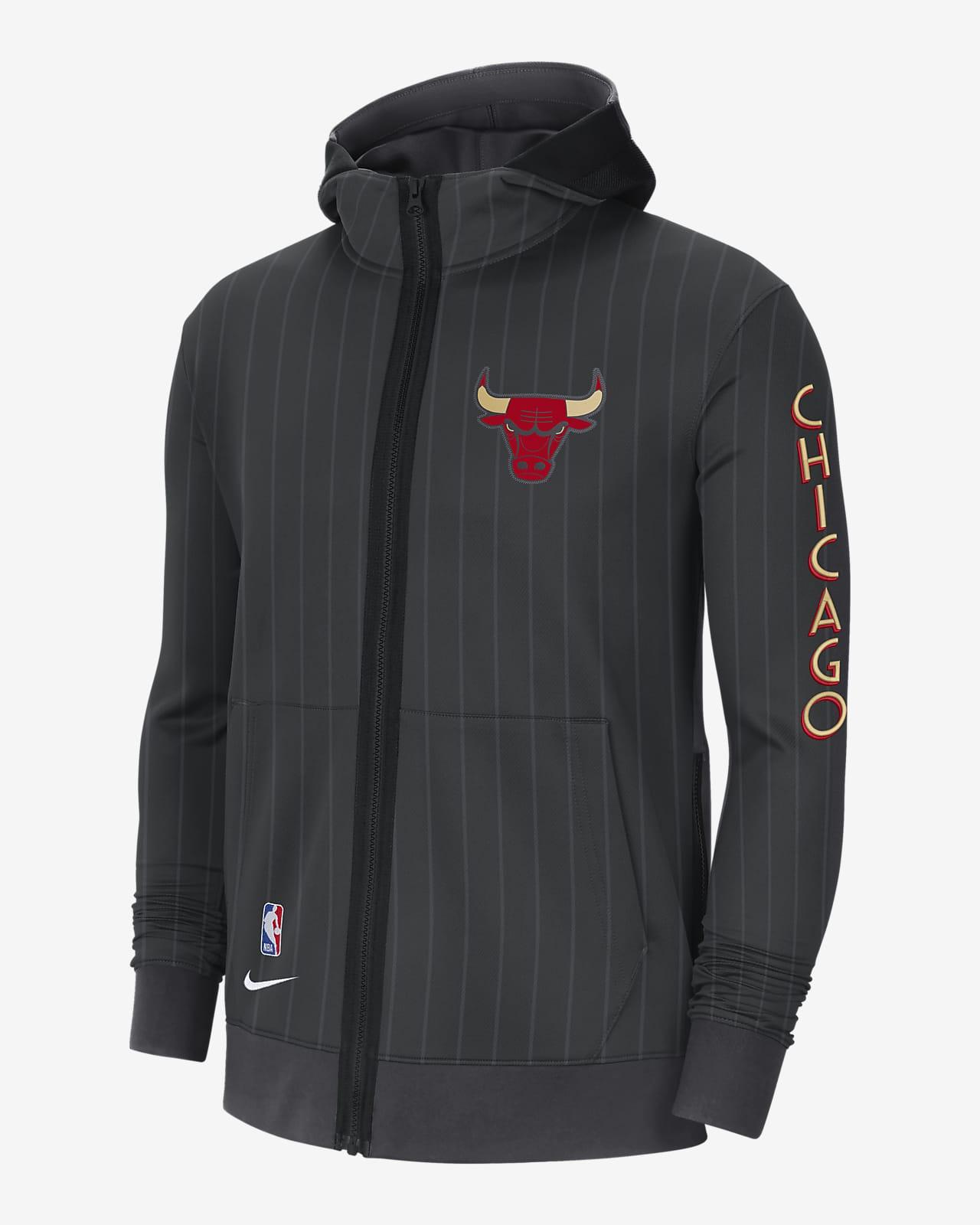 Felpa con cappuccio Chicago Bulls Showtime City Edition Nike Therma Flex NBA - Uomo