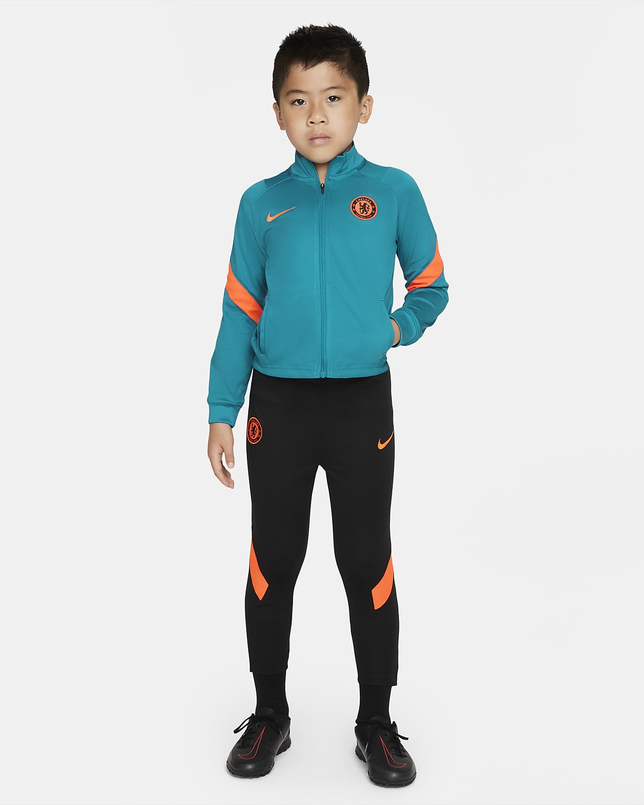 Chelsea F.C. Strike Younger Kids' Nike Dri-FIT Knit Football Tracksuit