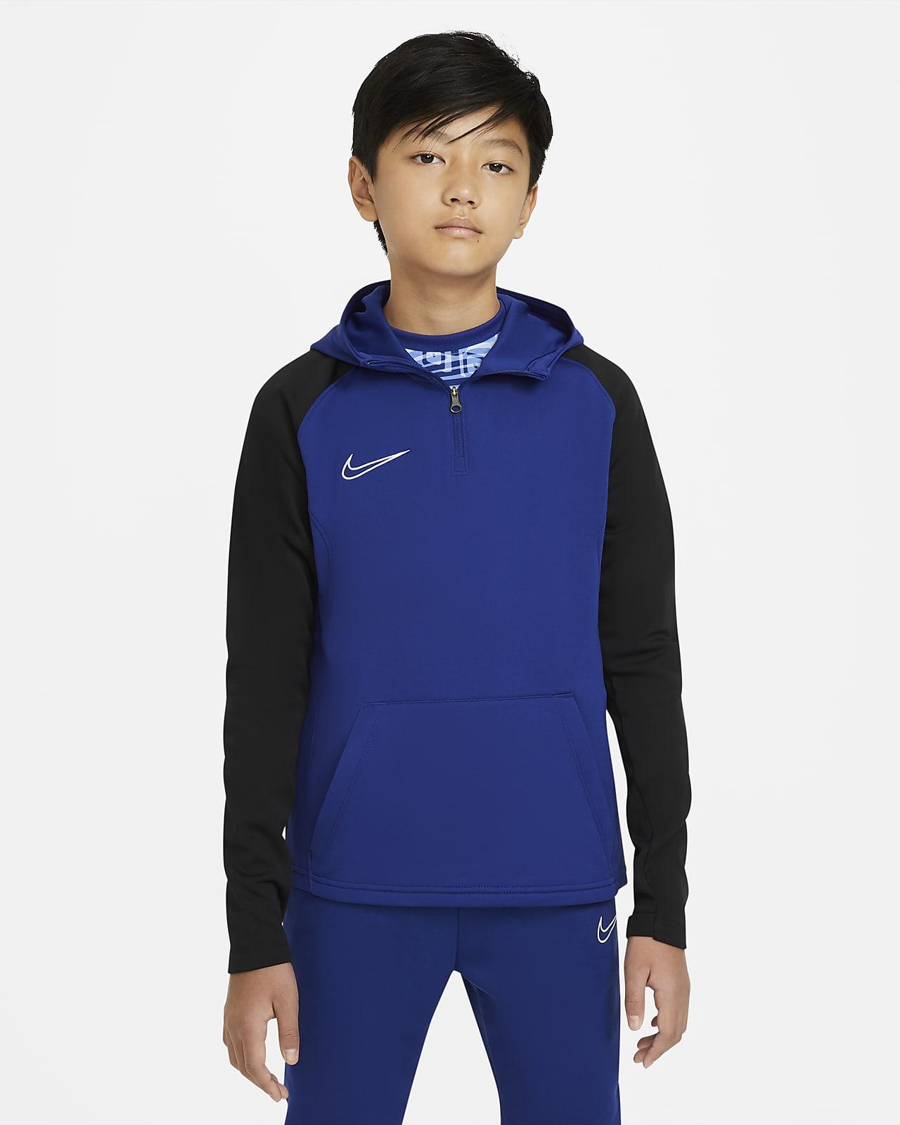 Sweat à capuche d'entraînement de football à 1/4 de zip Nike Dri-FIT Academy pour Enfant plus âgé